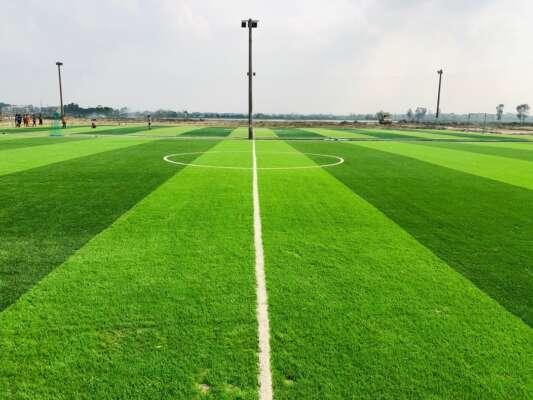 Thi công cỏ nhân tạo tại TPHCM - cỏ nhân tạo sân bóng